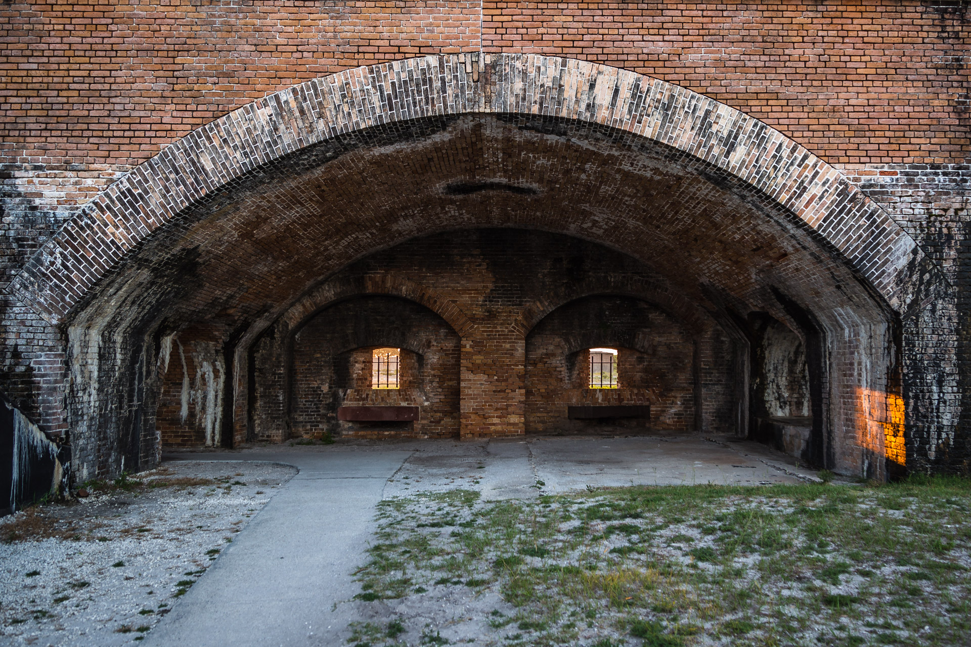 Fort Pickens (exterior arch)