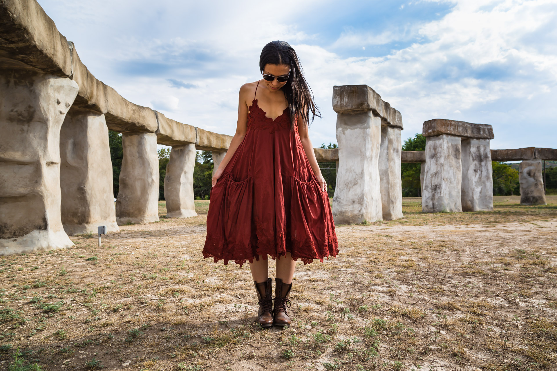 Feeling Alittle Boho At Stonehenge (front pull)