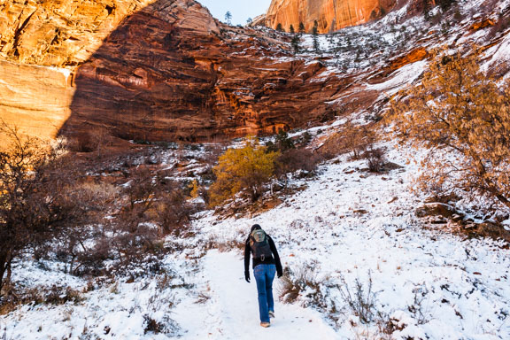 Flashback Trip: A Winter Hike At Zion