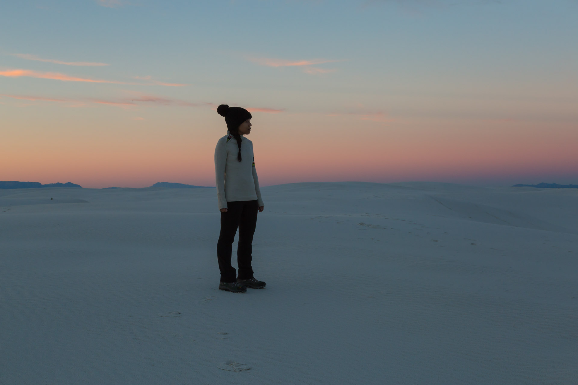 In A Sunset At White Sands (angle mid)