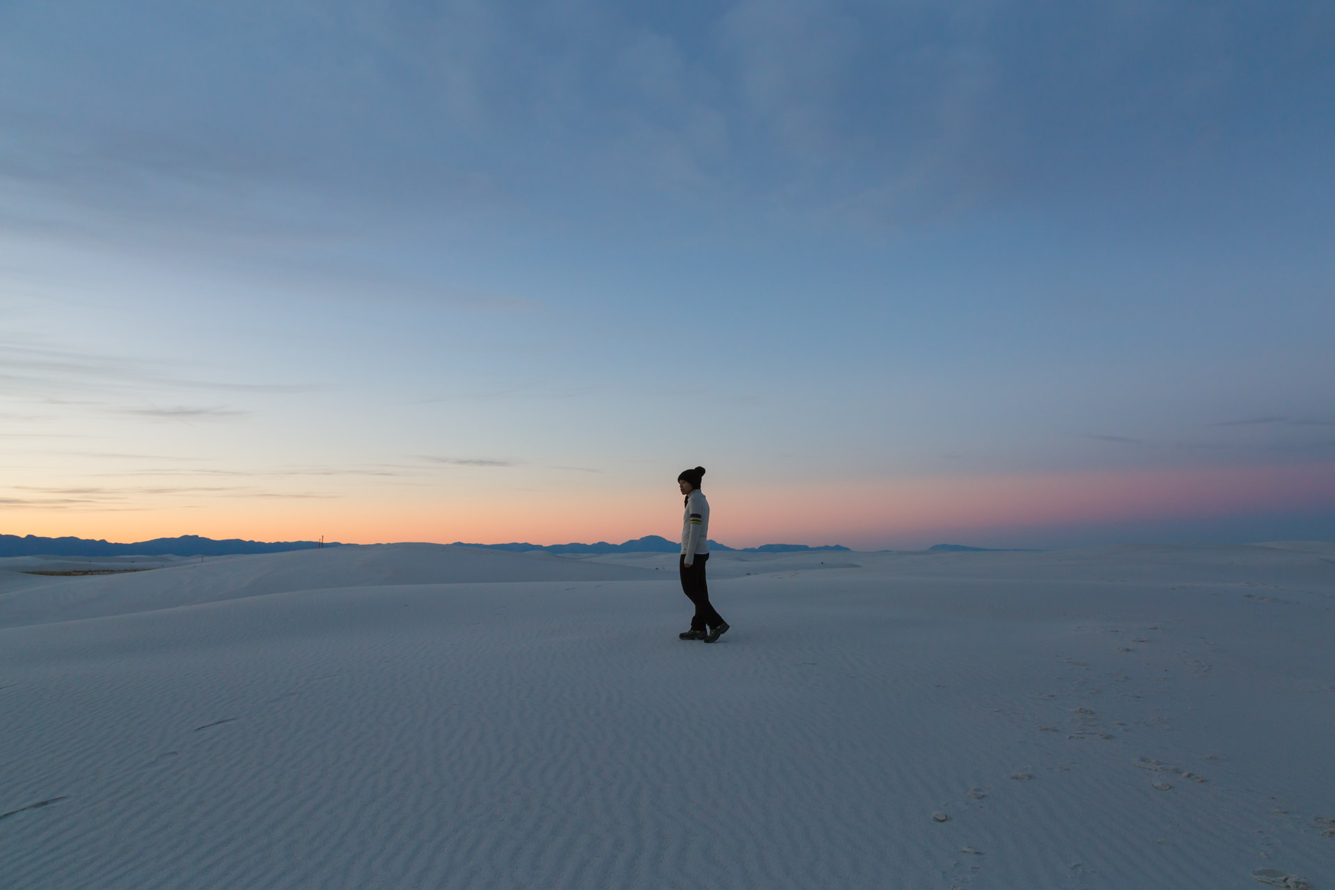 In A Sunset At White Sands (far)