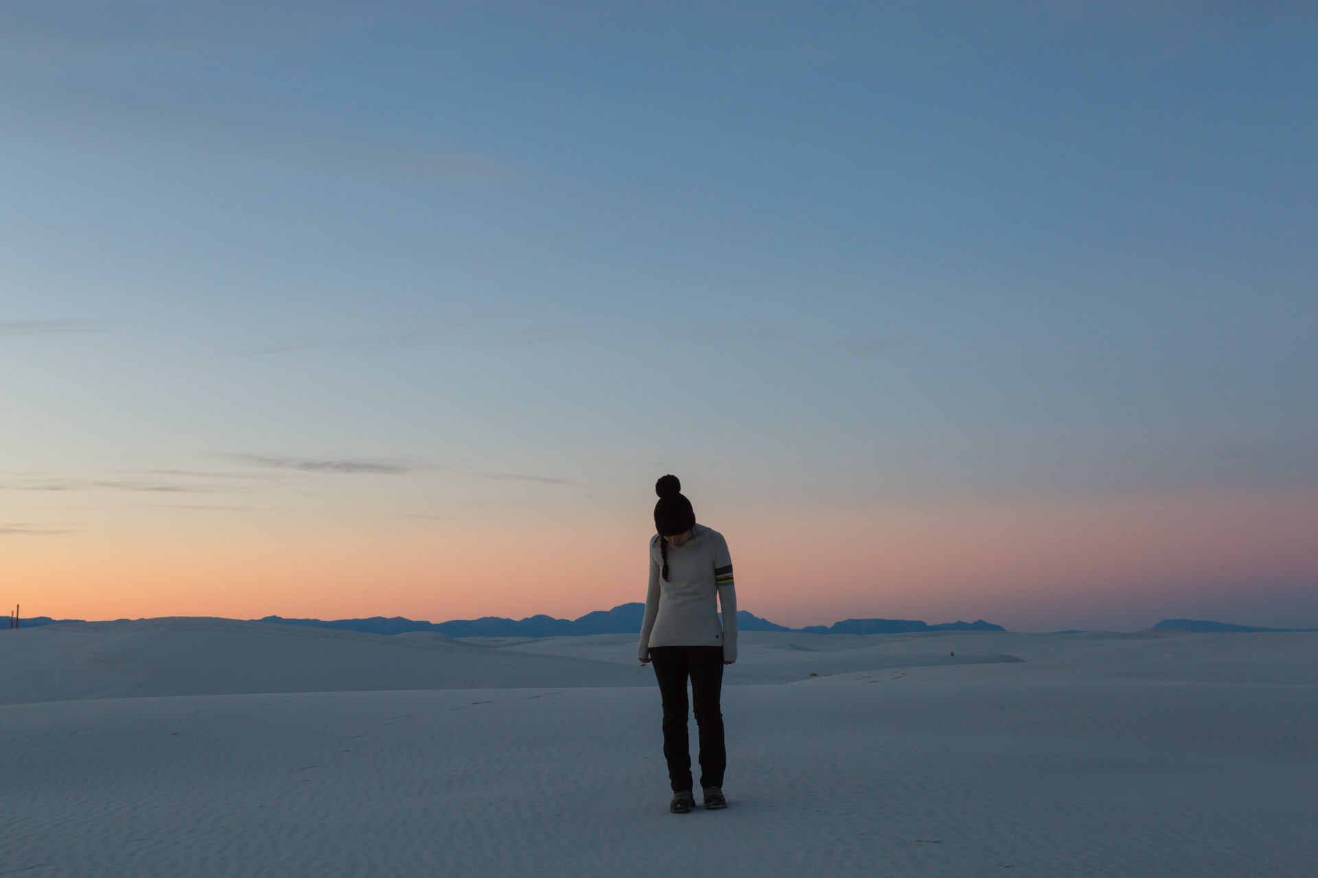 In A Sunset At White Sands (frontFar)