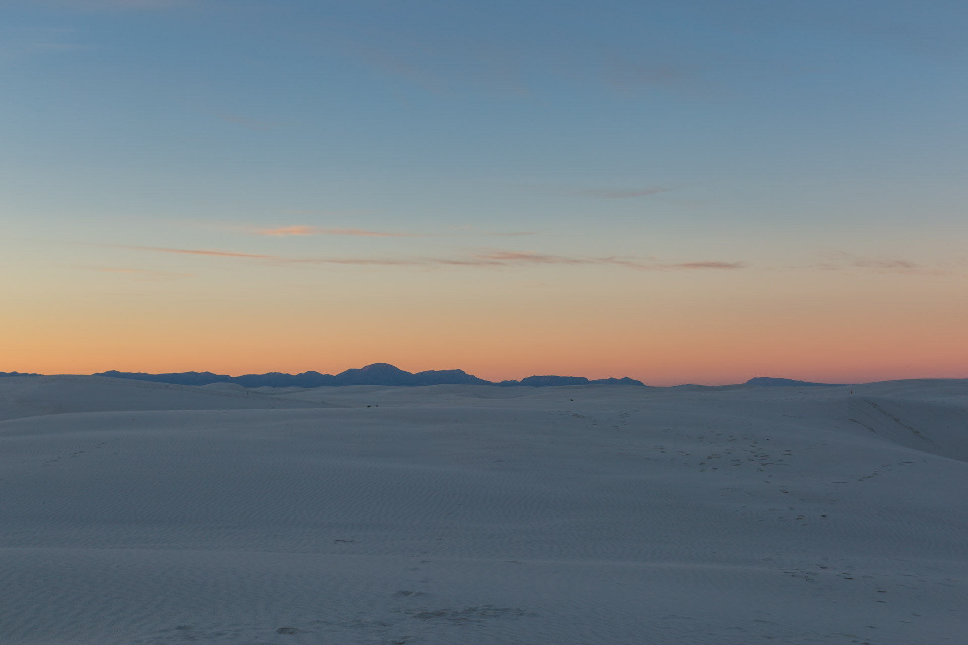 In A Sunset At White Sands (view 2)