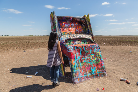 Interactive Art At Cadillac Ranch