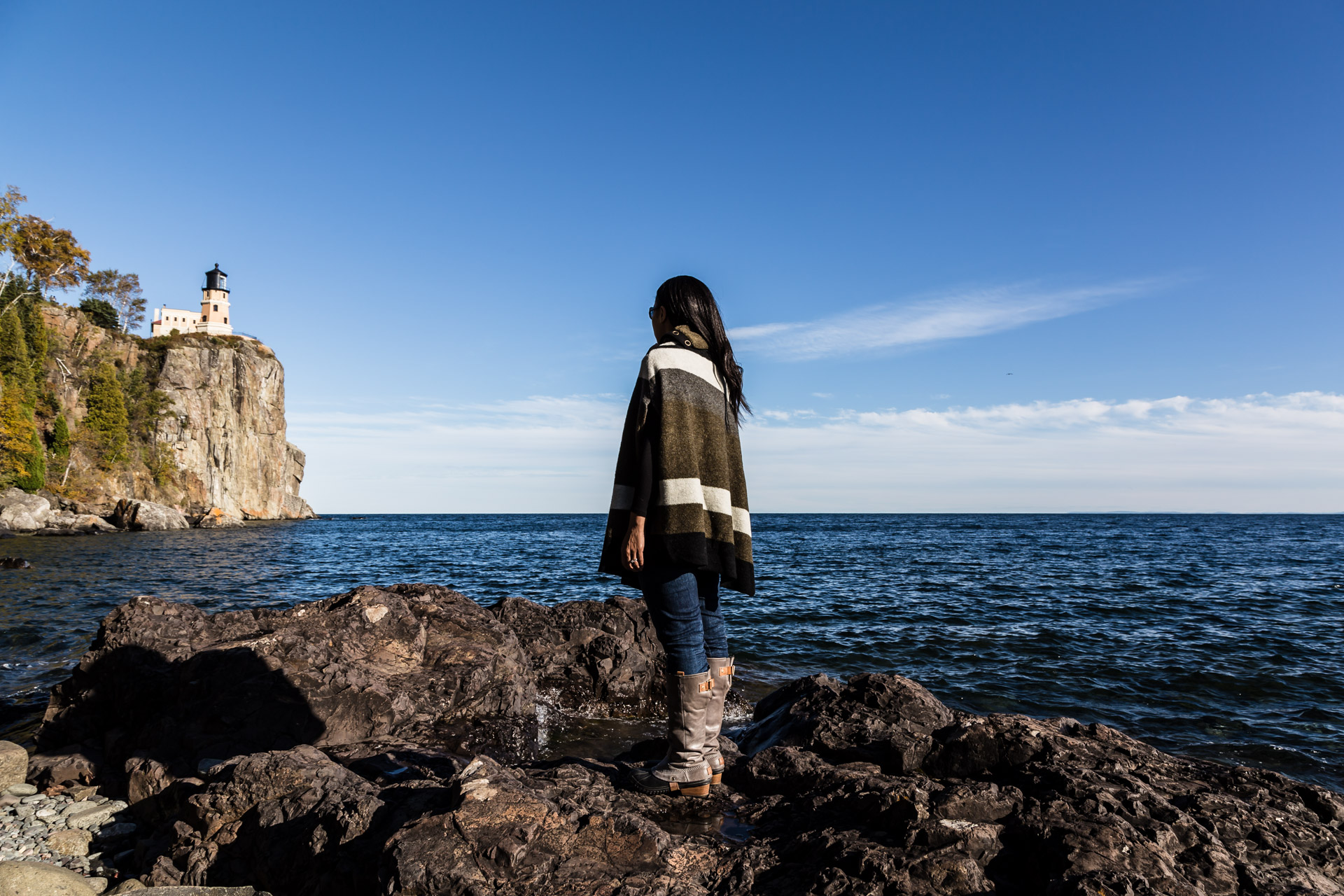 Poncho Warmth At Lake Superior