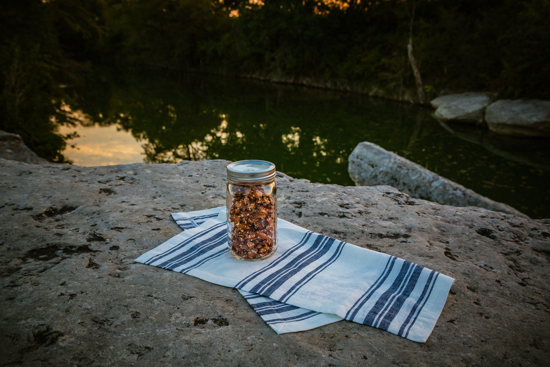 Sunset In A Jar (river mid)