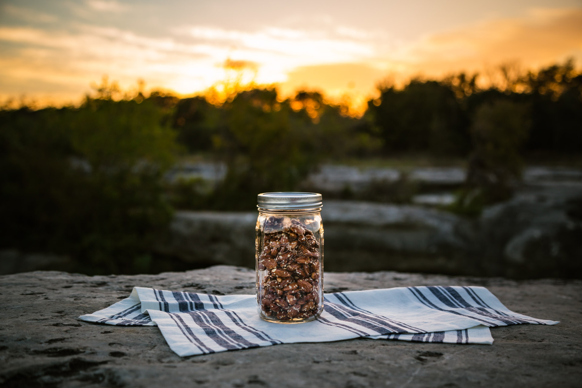 Sunset In A Jar aka Honey Sesame Almonds