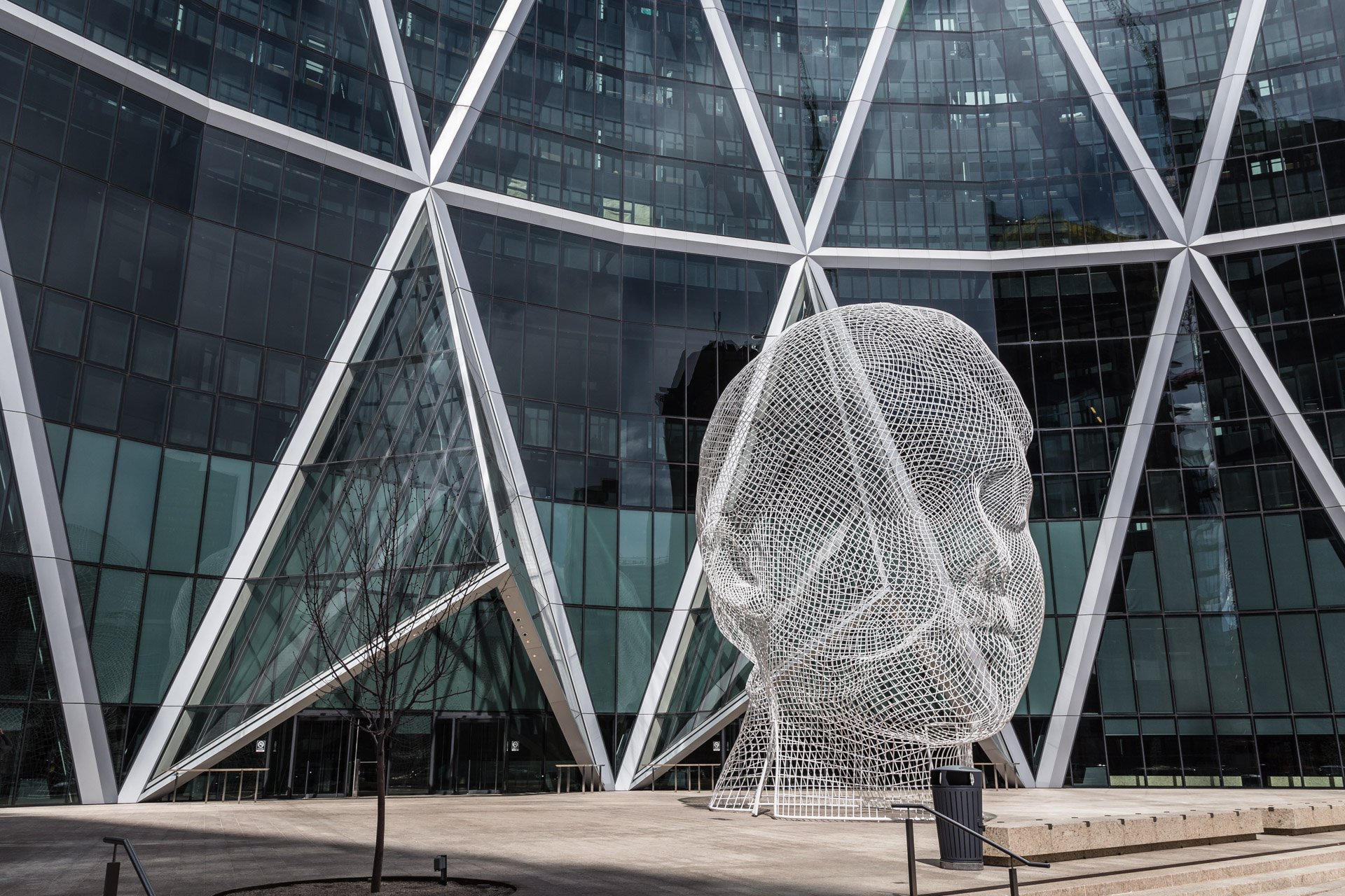 The Wonderland Sculpture In Downtown Calgary